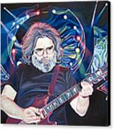 Jerry Garcia And Lights Canvas Print