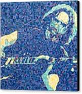 Jerry Garcia Chuck Close Style Canvas Print by Joshua Morton