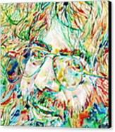 Jerry Garcia Watercolor Portrait.1 Canvas Print by Fabrizio Cassetta