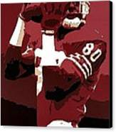 Jerry Rice Poster Art Canvas Print