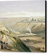 Jerusalem April 5th 1839 Canvas Print by David Roberts