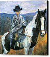 Jesse On Dakota Canvas Print by Ethel Vrana