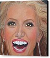 Jessica Simpson Canvas Print by Shirl Theis