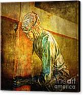 Jesus Falls Via Dolorosa 3 Canvas Print by Lianne Schneider