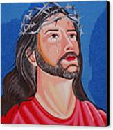 Jesus Hand Embroidery Canvas Print by To-Tam Gerwe