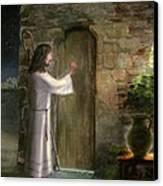 Jesus Knocking On The Door Canvas Print by Cecilia Brendel