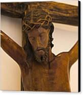 Jesus On The Cross Canvas Print by Al Bourassa