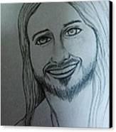 Jesus Sweet Smile Canvas Print