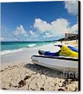 Jet Ski On The Beach At Atlantis Resort Canvas Print by Amy Cicconi