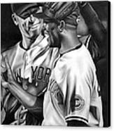 Jeter And Mariano Canvas Print by Jerry Winick