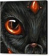 Jeweled Kitty 9 Carnelian Canvas Print