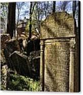 Jewish Cemetery Canvas Print by Brenda Kean