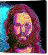 Jim Morrison 20130329 Square Canvas Print by Wingsdomain Art and Photography