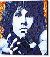 Jim Morrison Chuck Close Style Canvas Print by Joshua Morton