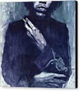 Jimi Hendrix 01 Canvas Print by Yuriy  Shevchuk