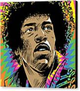 Jimi Hendrix Pop Art Canvas Print