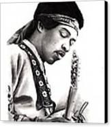 Jimi Hendrix Canvas Print by Rosalinda Markle