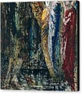 Job And The Angels Canvas Print by Gustave Moreau