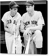Joe Dimaggio And Ted Williams Canvas Print by Gianfranco Weiss