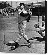 Joe Dimaggio Hits A Belter Canvas Print by Gianfranco Weiss