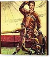 Joe Dimaggio Yankee Clipper Canvas Print by Ray Tapajna