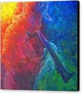 Joe Jazzes Into The Night Canvas Print