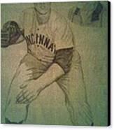 Joe Nuxhall Canvas Print by Christy Saunders Church