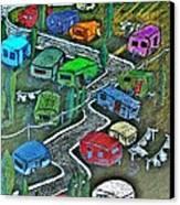 Joes Happy Trailer Park Canvas Print by Joseph Hawkins