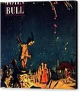 John Bull 1954 1950s  Uk Guy Fawkes Canvas Print