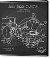 John Deer Tractor Patent Drawing From 1933 Canvas Print