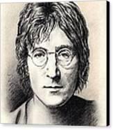 John Lennon Portrait Canvas Print by Wu Wei