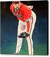 John Smoltz - Atlanta Braves Canvas Print