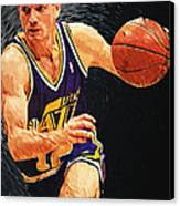John Stockton Canvas Print by Taylan Apukovska