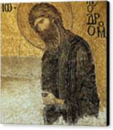 John The Baptist-detail Of Deesis Mosaic  Hagia Sophia-judgement Day Canvas Print by Urft Valley Art
