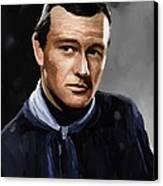 John Wayne In Stagecoach Canvas Print by Robert Wheater
