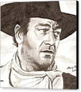 John Wayne Canvas Print by Michael Mestas