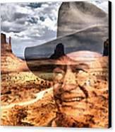 John Wayne Monument Valley Canvas Print by Lester Phipps
