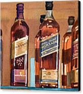 Johnnie Walker Canvas Print by Mary Helmreich