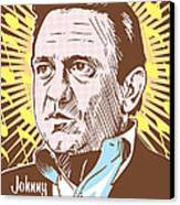 Johnny Cash Pop Art Canvas Print