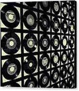 Johnny Cash Vinyl Records Canvas Print