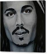 Johnny Depp Canvas Print by David Hawkes