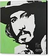 Johnny Depp Canvas Print by Juan Molina
