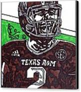 Johnny Manziel 6 Canvas Print by Jeremiah Colley