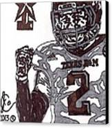 Johnny Manziel 9 Canvas Print by Jeremiah Colley