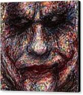 Joker - Face I Canvas Print by Rachel Scott
