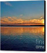 Jordan Lake Sunset 2 Canvas Print by Kelly Nowak