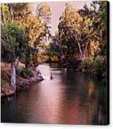 Jordan River At Dusk Canvas Print by Lawrence Berke