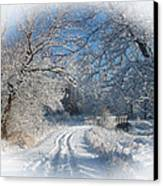 Journey Into Winter Canvas Print by Teresa Schomig