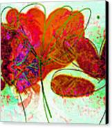 Joy Flower Abstract Canvas Print
