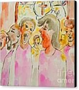 Joyful Noise Canvas Print by Sidney Holmes